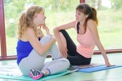 Na de yogazitting royalty-vrije stock foto's