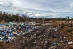 Na descarga de lixo da cidade Imagem de Stock Royalty Free