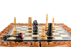 Na desce szachowi kawałki Obrazy Stock