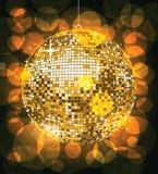 na disco złota Zdjęcie Royalty Free