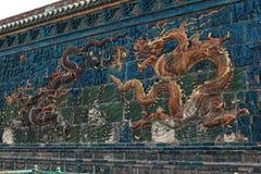9na Dragon Wall i Datong Arkivfoto