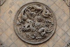 9na Dragon Wall i Datong Royaltyfri Fotografi