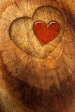 Na drewnianym tle miłość tekst Obrazy Royalty Free