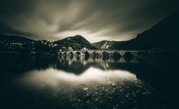 Na Drini Cuprija Bridge on Drina Visegrad royalty free stock photos