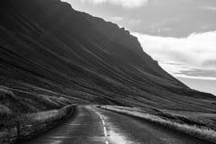 Na drodze, Iceland Zdjęcia Royalty Free