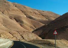 Na drodze Nieżywy morze, Jordania, Środkowy Wschód Zdjęcie Royalty Free