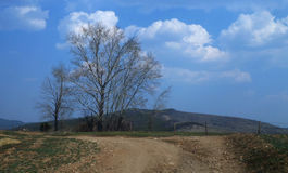Na drodze z chmurami Fotografia Stock