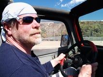 Na drodze zadowolony stary człowiek Fotografia Stock