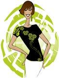 Na dt mody tshirt royalty ilustracja