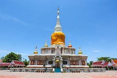 Na Dun pagoda at Maha Sarakham in Thailand. 12-8-15 Royalty Free Stock Photos