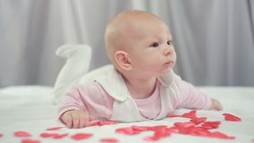 Na dziecko spadku czerwieni sercach zbiory wideo
