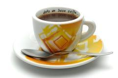 Na een goede koffie? Stock Foto's