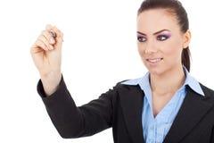 Na ekranie kobiety biznesowy writing obrazy royalty free