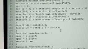 Na ekranie monitor używać mysz kursor jest przydzielającym tekstem dla redagować i strony scrolling wykonuje Ampuła zbiory wideo
