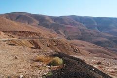 Na estrada à montagem Nebo, Jordânia, Médio Oriente Foto de Stock
