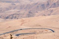 Na estrada à montagem Nebo, Jordânia, Médio Oriente Imagens de Stock