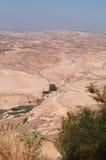 Na estrada à montagem Nebo, Jordânia, Médio Oriente Imagens de Stock Royalty Free