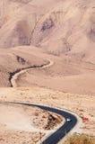 Na estrada à montagem Nebo, Jordânia, Médio Oriente Fotografia de Stock