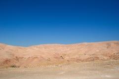 Na estrada ao Mar Morto, Jordânia, Médio Oriente Imagem de Stock Royalty Free