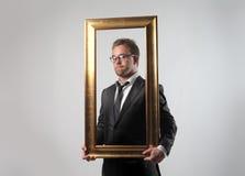 Na estrutura do negócio foto de stock royalty free