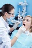 Na examinação na odontologia fotografia de stock royalty free