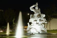 Na frente da fonte Fundadores de Leon, Leon, Guanajuato imagem de stock royalty free