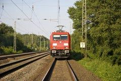 Na frente do trem imagem de stock