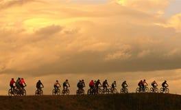 na górę wzgórza kolarstwa, Zdjęcie Stock