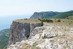 Na górze ai plateau, Foros kant, Crimea Fotografia Stock