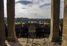 Na górze Angkor Wat Zdjęcia Royalty Free