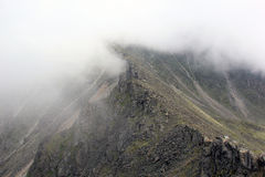 Na górze halnej chmury Zdjęcia Stock