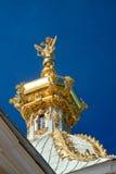 Na górze Rosyjski Kościół Prawosławny golen Kopuła Fotografia Stock