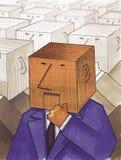 na głowę ilustracja wektor