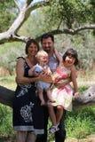 Na gałąź rodzinny portret Obraz Stock