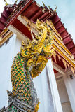 Na gas statue decoration pillar of Thai temple Royalty Free Stock Photo