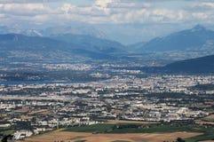 Na Genewa panoramiczny widok Zdjęcie Royalty Free
