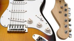 na gitarze Zdjęcia Royalty Free