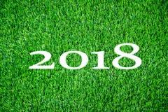 2018 na grama verde Fotos de Stock