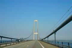 Na grande ponte Danmark da correia Foto de Stock Royalty Free