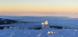 Na grani nad chmury obraz stock