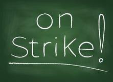 Na greve Fotografia de Stock Royalty Free