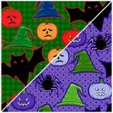 Na Halloween bezszwowa tekstura Zdjęcia Stock