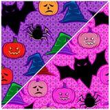 Na Halloween bezszwowa tekstura Obrazy Royalty Free