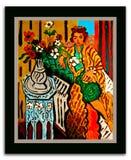 Na Henri Matisse-inkt op Tin stock afbeelding
