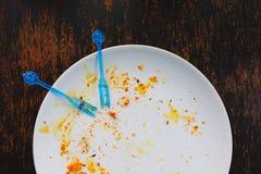 Na het eten van dessert Royalty-vrije Stock Foto