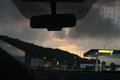 Na het onweer Stock Foto's