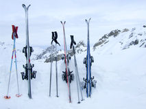 Na het skiån stock afbeelding