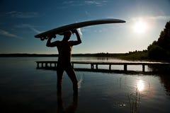 Na het windsurfing Royalty-vrije Stock Afbeeldingen