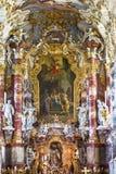 Na igreja branca Imagens de Stock Royalty Free