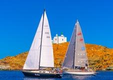 Na ilha de Kea em Grécia Fotografia de Stock